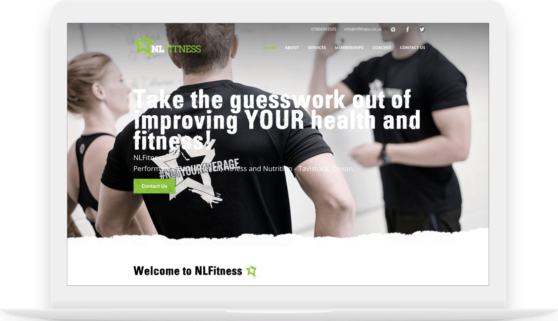 NL Fitness homepage image