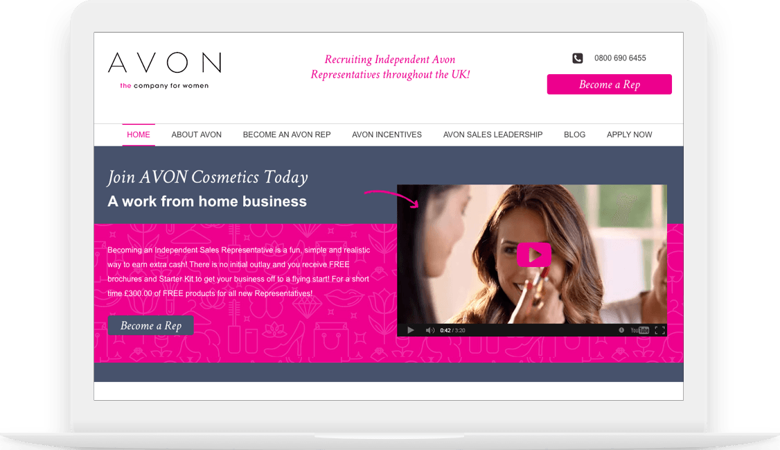 Beauty Sales Rep homepage image